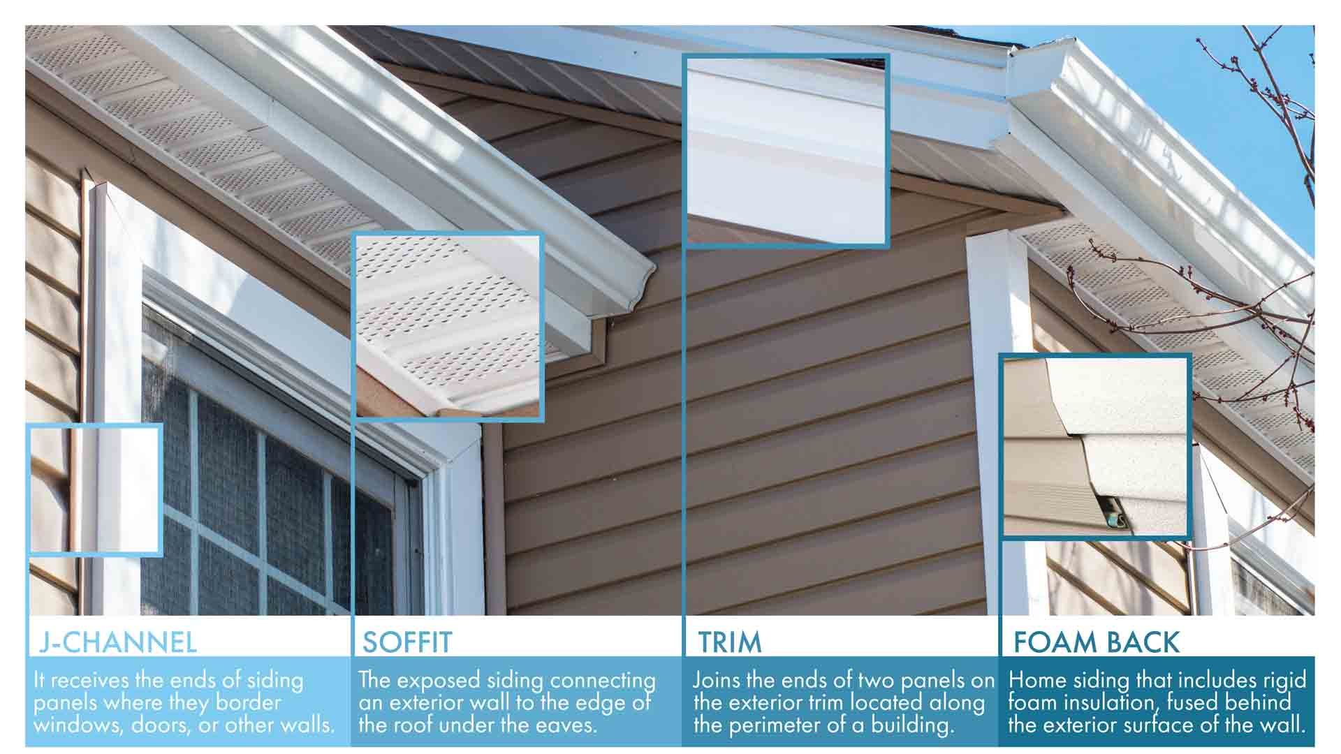 pop outs of various parts of vinyl siding