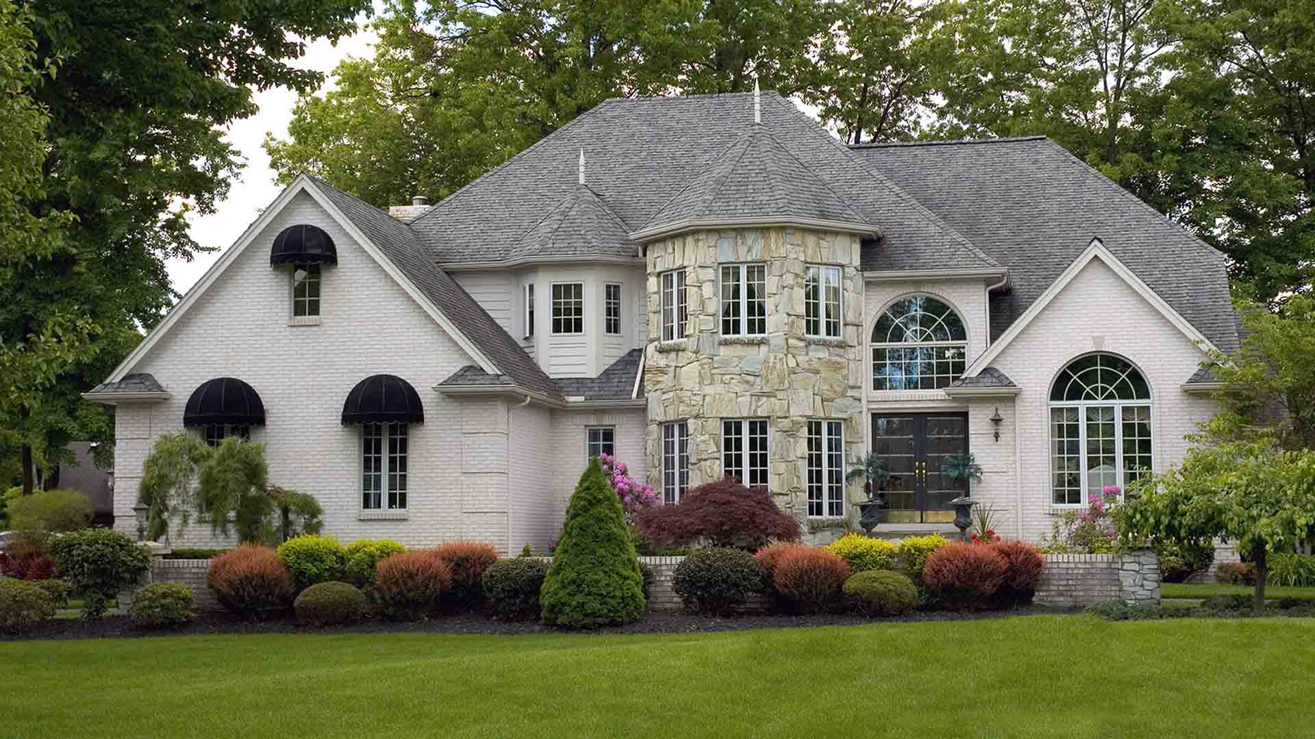 large home with specialty windows