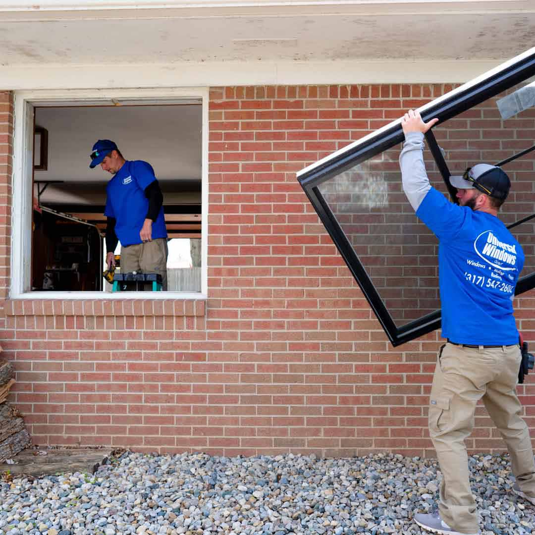 A pocket installation of a window being replaced