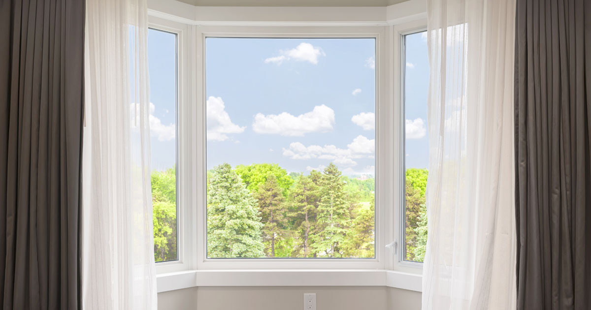 Home Windows with Drapes