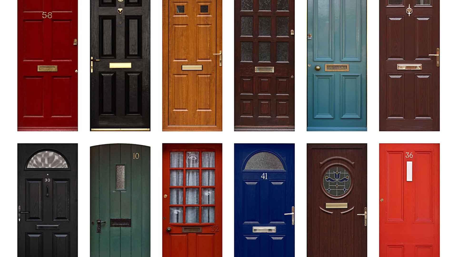 different types of front entry doors