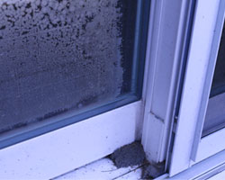 Broken window seals can cause window condensation