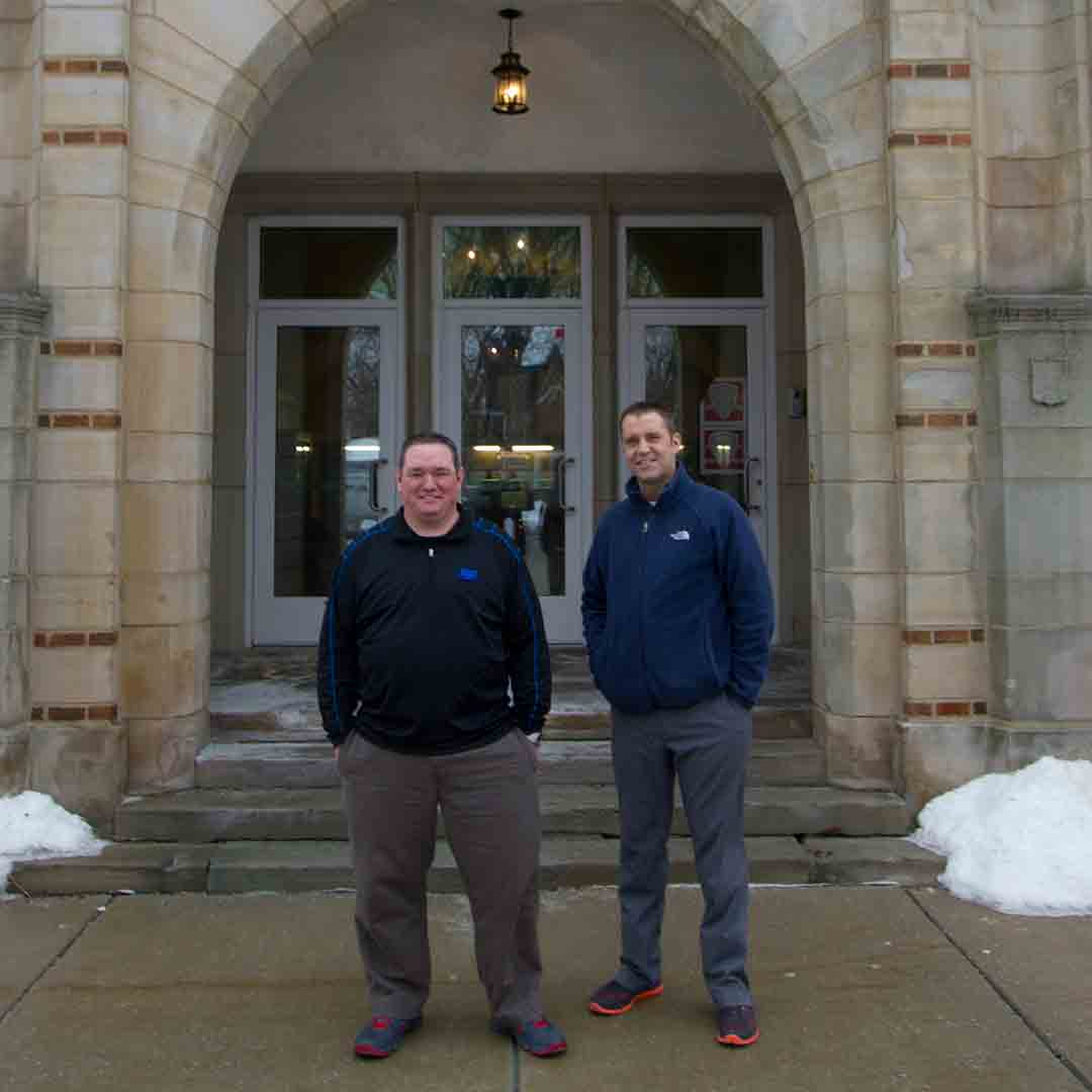 Bill and Mike at Fairview Park High School