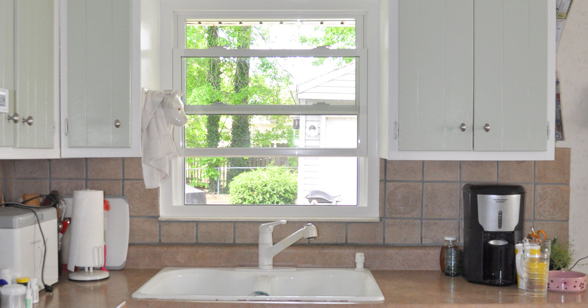 New windows can add more light into your kitchen.