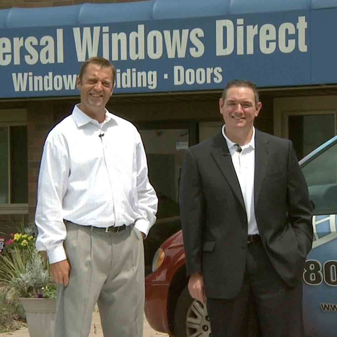 Mike and Bill Outside of the Oakwood Village Office