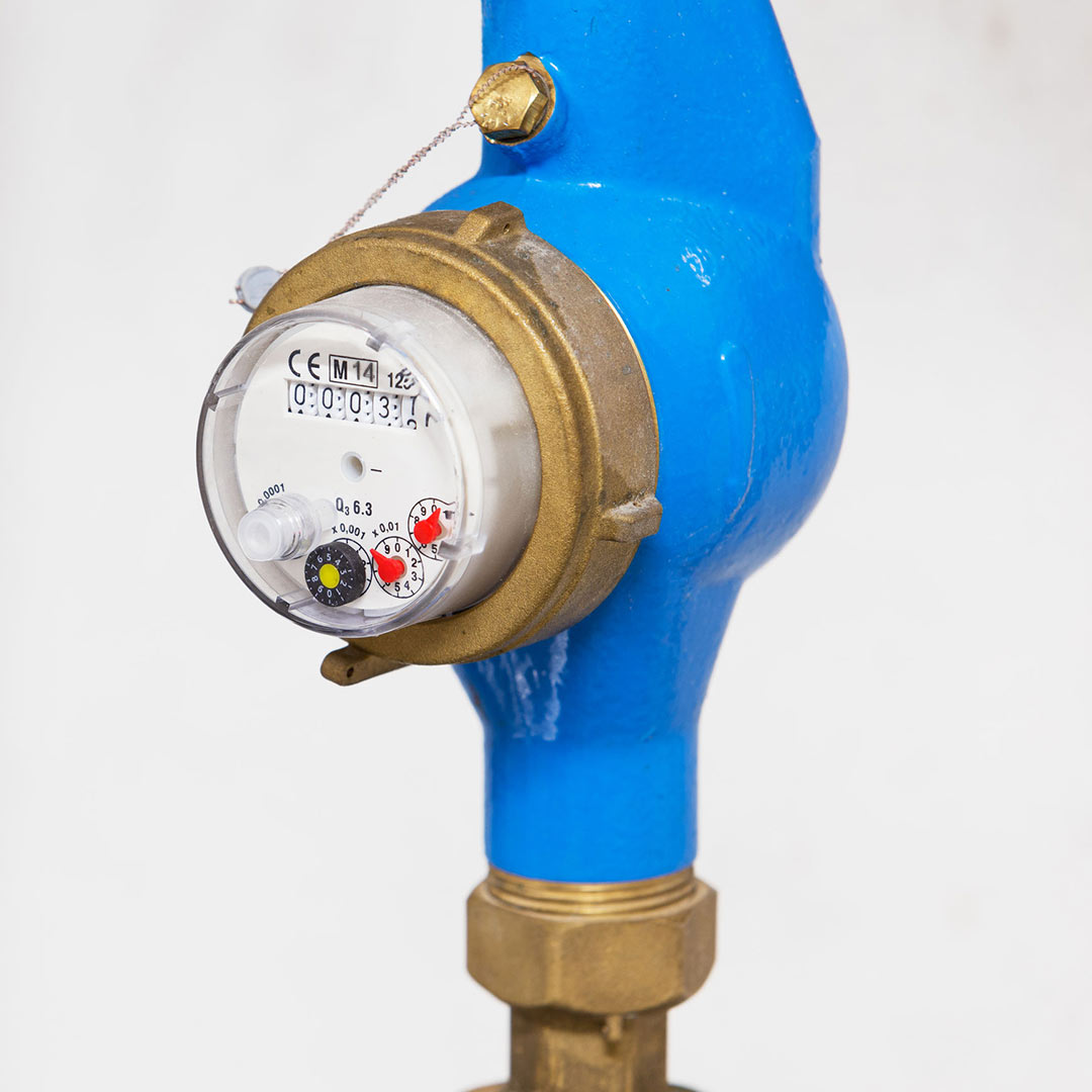 outdoor home water meter